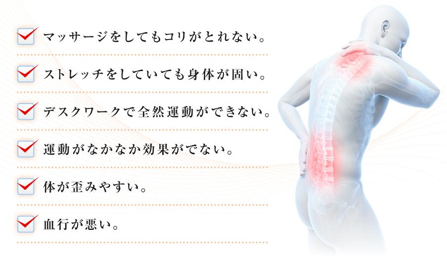 体の不調の原因ポイント