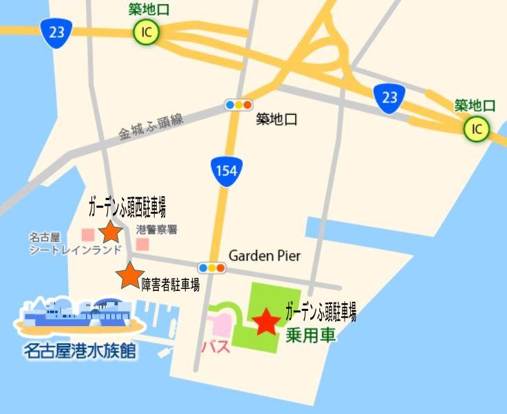 名古屋港水族館地図