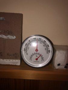 室温16℃