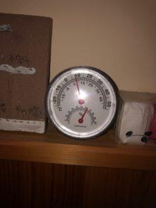 温度計が8℃