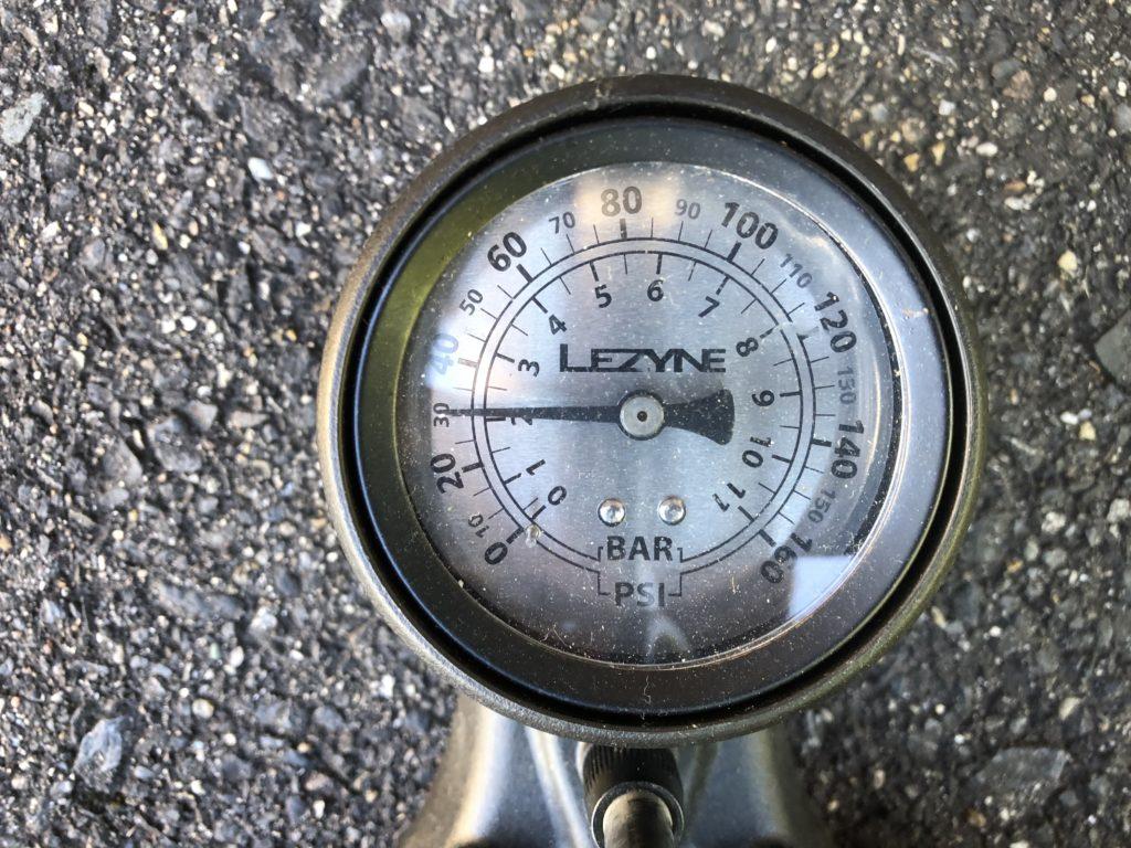 圧力メーター上昇